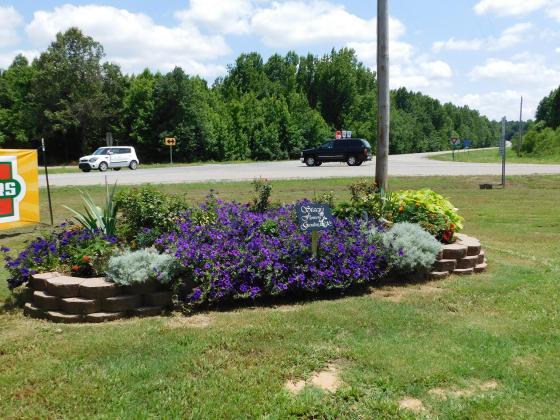 Stacy's Flower Garden at Lorado Grocery. (Stan Morris | NEA Report)