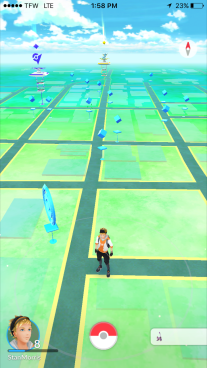 This is Main Street in Jonesboro, filled with stops!