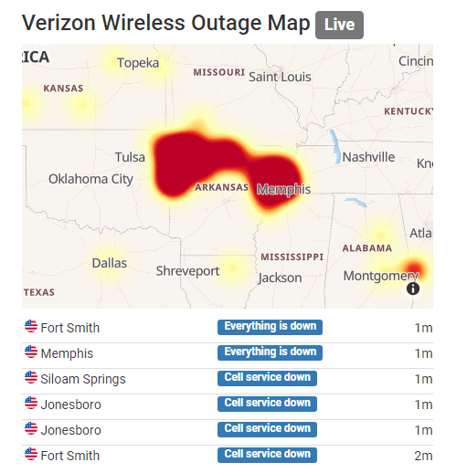Verizon wireless service restored after major outage across