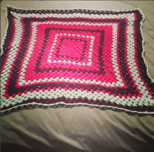 First completed blanket