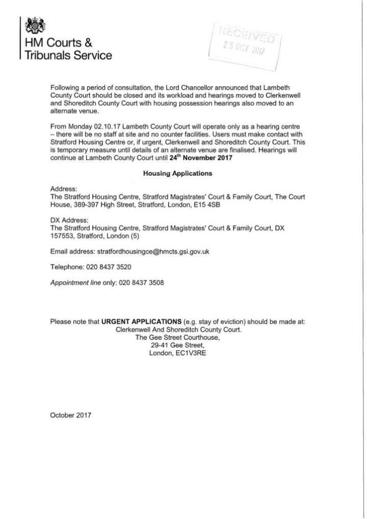 HMCTS letter 2