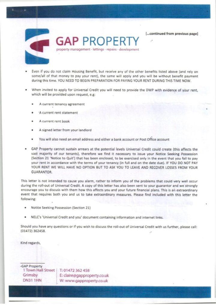 GAP letter 2