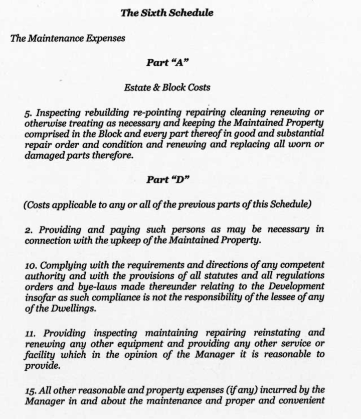 Lease provisions 1