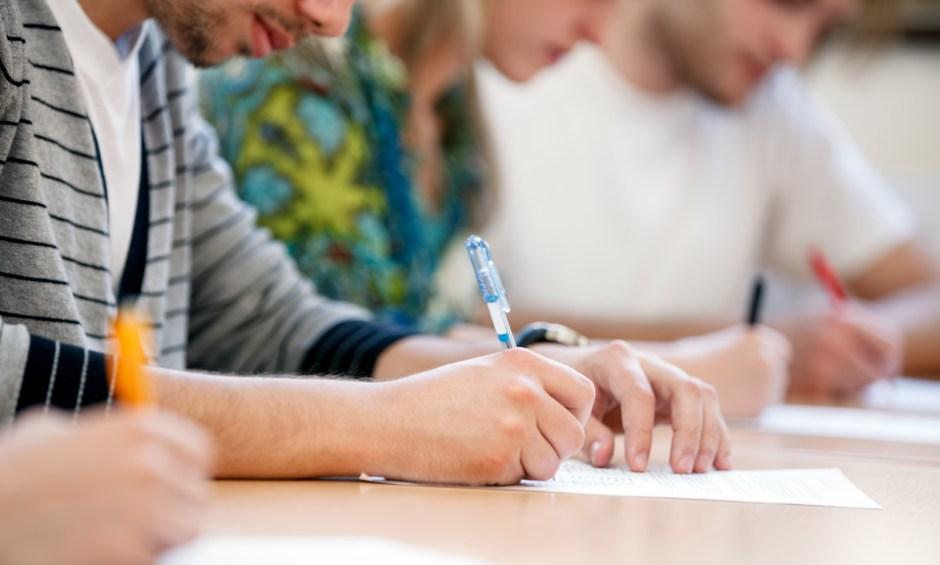 students taking NEAS exams