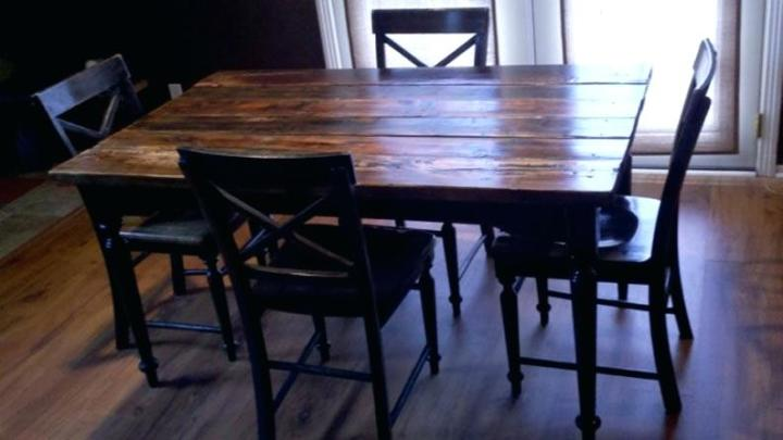 Reclaimed Wood Outdoor Dining Set