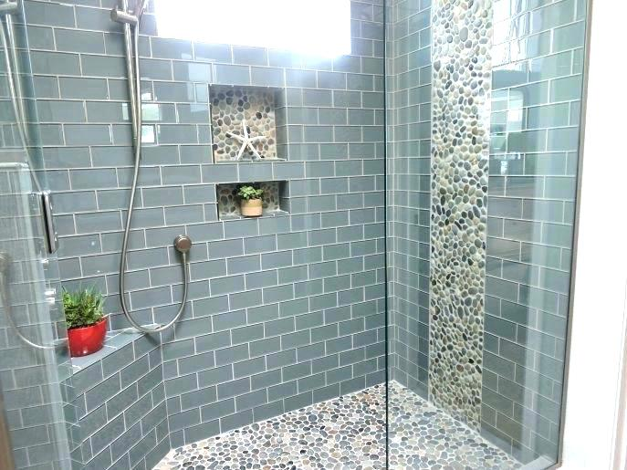 Glass Mosaic Tile Bathroom Floor