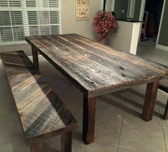 Rustic Wood Dining Room Set