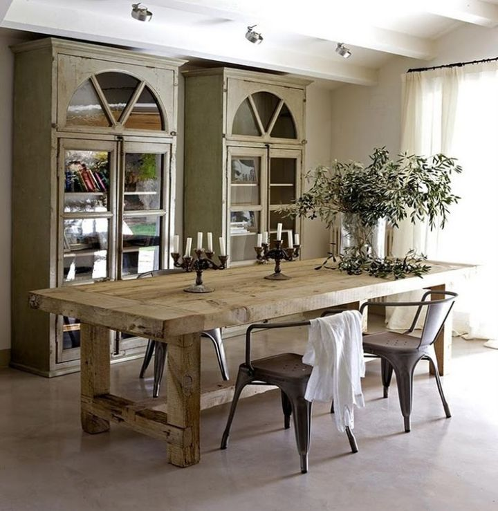 Rustic Modern Dining Room Table And Chairs