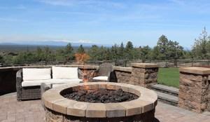 backyard fire pit installation