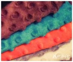 Wybrane kolory minky dla Olafa @ NeaveCreations 2015