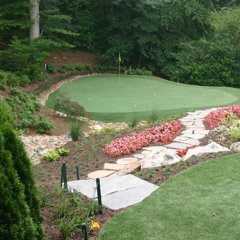 Backyard Putting Greens: Reviewing Real Vs. Artificial ... on Putting Green Ideas For Backyard id=91280