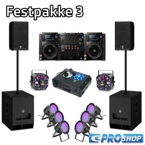 Festpakke 3 (DJ)   12″ top + 15″ sub +  NXS2-pult + LED parlampe 56 + Storm
