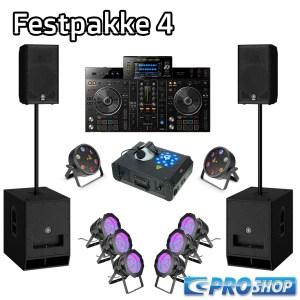 Festpakke 4 (DJ)   15″ top + 18″ sub  XDJ-R1 + LED parlampe 64 + Flat storm