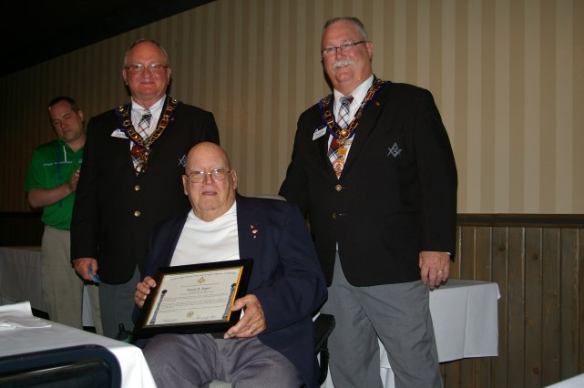 Don Rogert with his 60 Year Certificate and Pin