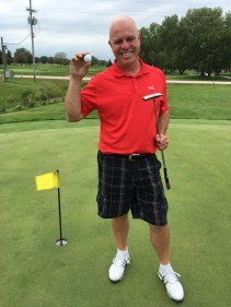 Brian Zahm sunk his putt to win the Putting Contest
