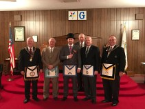 Installing officers and W.M. Elliott Bottorf