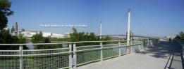 The Bob - pedestrian bridge Omaha, from the CB side