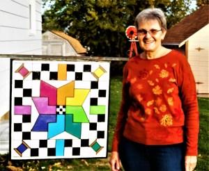 Barn Quilt Grand Prize Winner-Kathy Meier of Niobrara