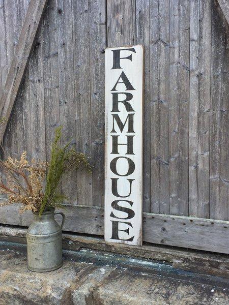 Farmhouse Vertical Rustic Wood Sign Oconee Sign Shack