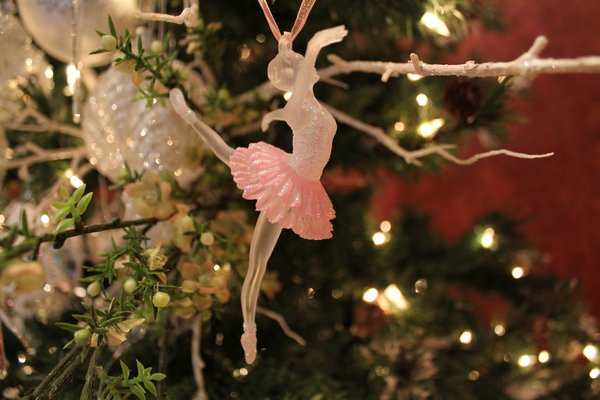 Clear Pink Ballerina Christmas Ornament Browse Home And