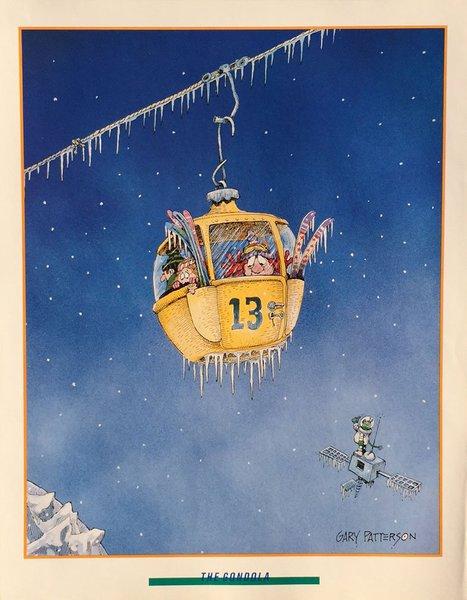 The Gondola Ski Print By Gary Patterson Gary Patterson