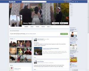 Darcy Marwick doesn't like me much and peppers her Facebook page with insults directed toward me.