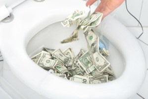 Dark Money Into The Toilet