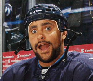 Grumpy Byfuglien Is Over The Line