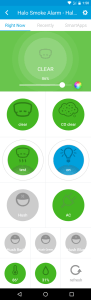 Halo screen in SmartThings app