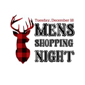 Mens Shoppping Night Logo with date