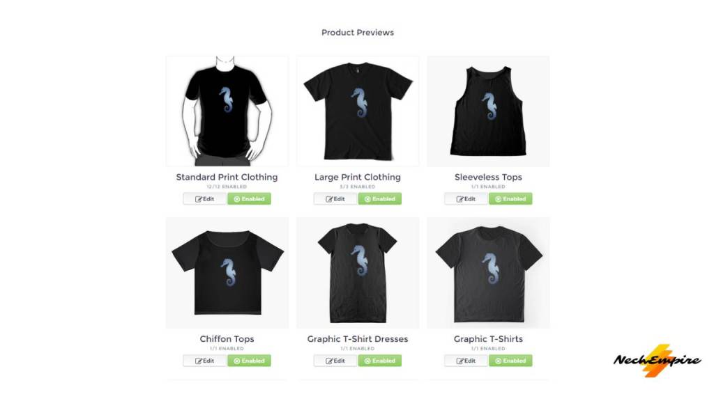 Dark color as a default color for t shirts