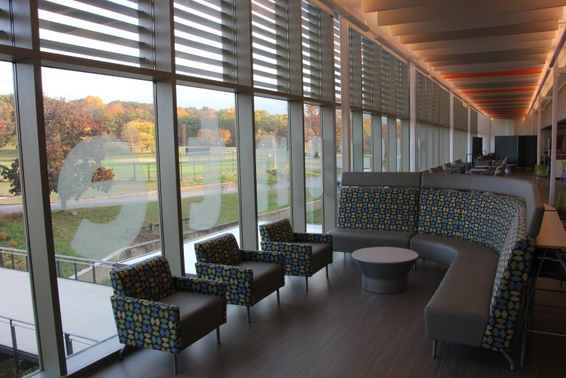 inside HCC campus ctr.