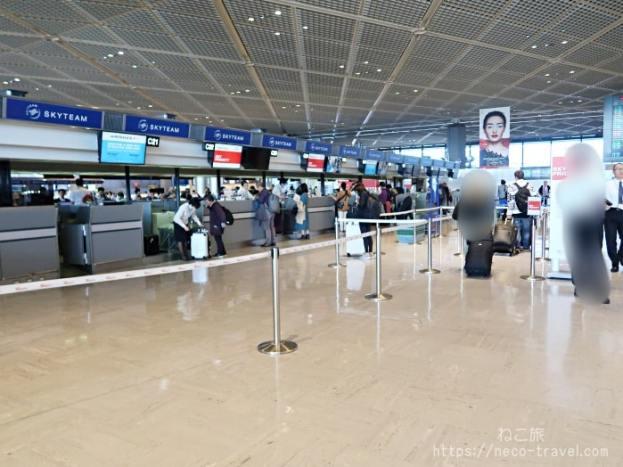 エールフランス航空 成田空港カウンター