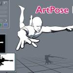 ArtPose 1.5 バージョンアップ | モデルをアウトライン表示する漫画に最適な表示モードを追加
