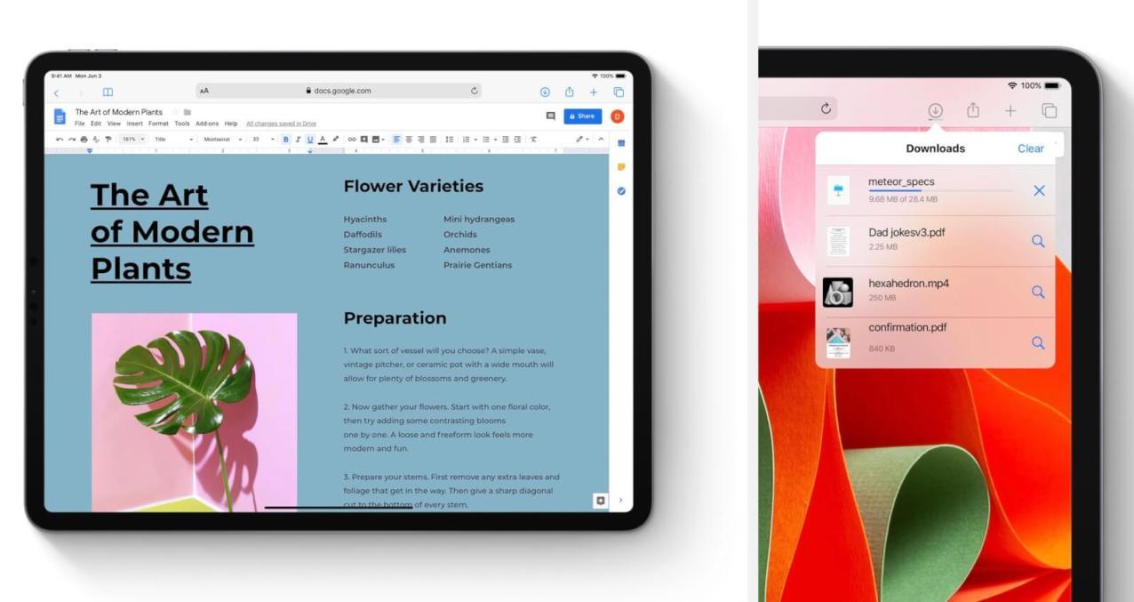 iPad版SafariはMac版に近い使用感になる