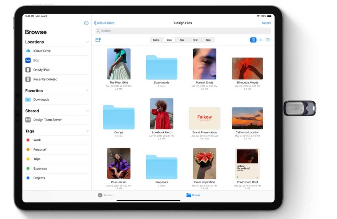 iPadOSでは念願叶って外部ストレージが読み込みできる