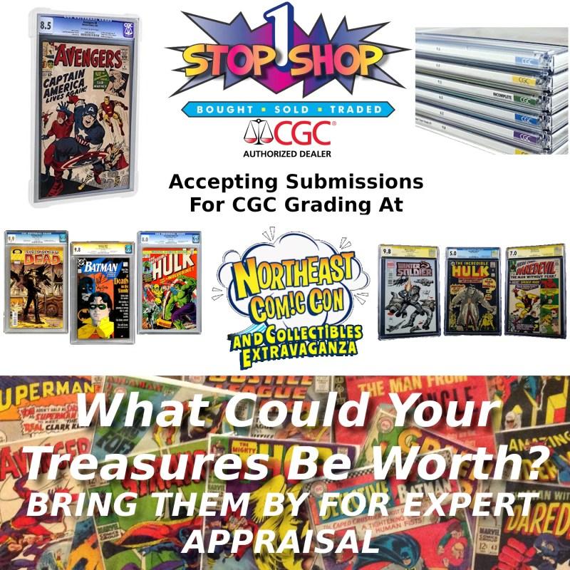 CGC Comic Grading Drop Off at NorthEast ComicCon March 13-15