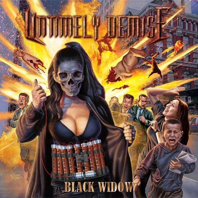 untimely demise - black - web