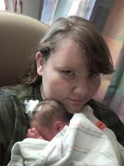 Kyran with his mom