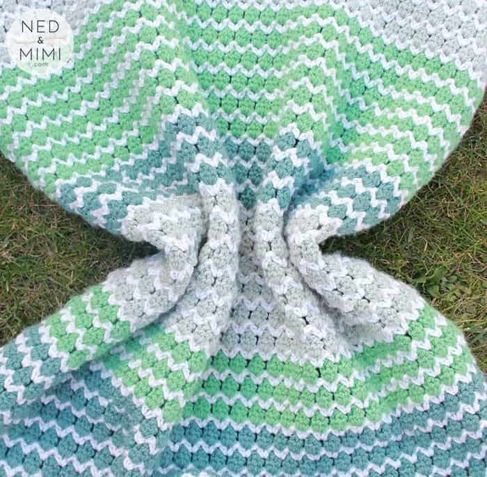 spring to life easy crochet baby blanket