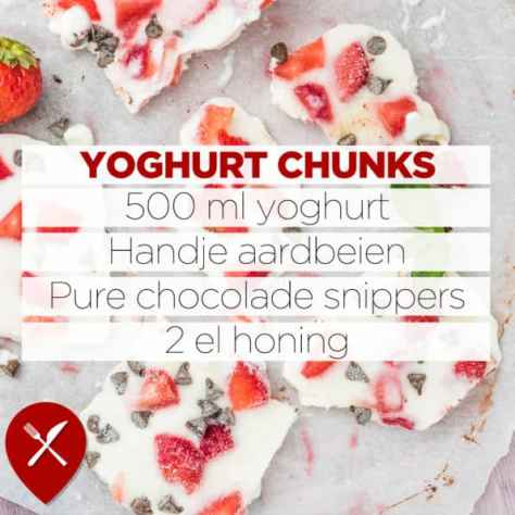 Yoghurt chunks maken