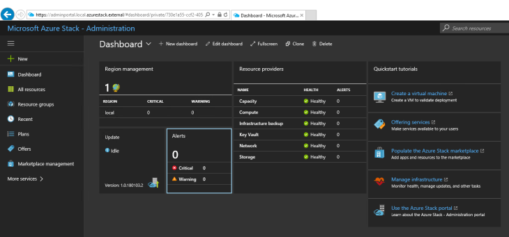 Azure Stack Admin Portal