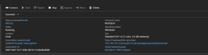 MSSQL deployment