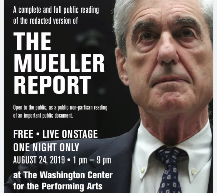 THE MUELLER REPORT – Live On Stage