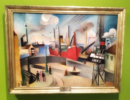 """""""Le Port de Bordeaux"""" (Havnen i Bordeaux), udatert, André Lhote (1885–1962). Olje på lerret, 81 x 59 centimeter."""