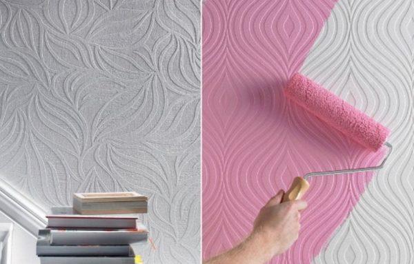 Как покрасить обои под покраску без разводов своими руками