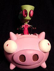Invader Zim piloting the flying pig action figures