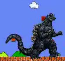 Godzilla as Mario