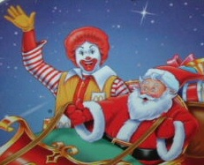 Ronald McDonald and Santa Claus