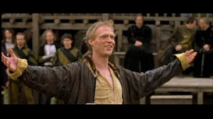 Paul Bettany as Geoffrey Chaucer from A Knight